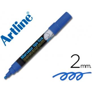 Rotulador Artline pizarra verdes-negras color azul bolsa de 4 rotuladores