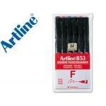 Rotulador Artline retroproyeccion punta fibra 6w bolsa de 6 rotul punta redonda 0.5 mm