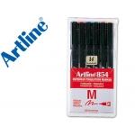 Rotulador Artline retroproyeccion punta fibra 6w bolsa de 6 rotul punta redonda 1 mm