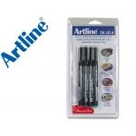 Rotulador Artline retroproyeccion punta fibra permanente az-ne-ro-ve punta redonda 1 mm (bl.de 4)-m