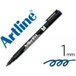 Rotulador Artline retroproyeccion punta fibra permanente color azul punta redonda 1 mm