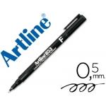 Rotulador Artline retroproyeccion punta fibra permanente color negro punta redonda 0.5 mm