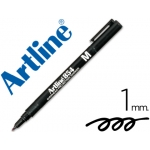 Rotulador Artline retroproyeccion punta fibra permanente color negro punta redonda 1 mm