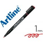 Rotulador Artline retroproyeccion punta fibra permanente color rojo punta redonda 1 mm