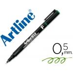 Artline 853 - Rotulador permanente, punta redonda de 0.5 mm, color verde