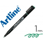 Rotulador Artline retroproyeccion punta fibra permanente color verde punta redonda 1 mm