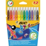 Rotulador Bic kid estuche de 12 colores tinta base agua ultra lavable