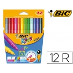 Rotulador Bic kids visa estuche de 12 colores tinta base de agua lavable