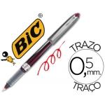 Rotulador Bic roller 537r color rojo tinta liquida punta 0,5 mm
