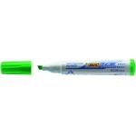 Rotulador Bic velleda para pizarra color verde punta biselada 5.9 mm