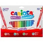 Carioca Birelo Dúo A53512013 - Rotuladores de colores, doble punta, caja de 24 colores