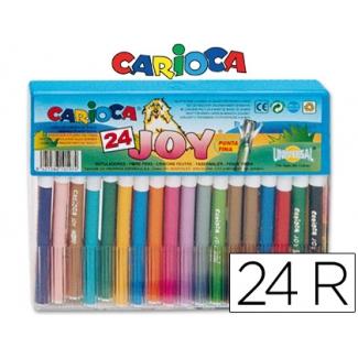 Carioca Joy - Rotuladores de colores, caja de 24 colores
