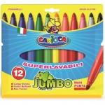 Rotulador Carioca jumbo caja de 12 colores punta gruesa