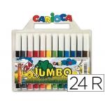 Rotulador Carioca jumbo caja de 2 unidades4 colores punta gruesa