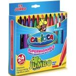 Rotulador Carioca jumbo caja de 24 colores punta gruesa