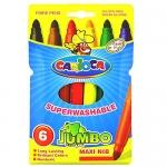 Rotulador Carioca jumbo caja de 6 colores punta gruesa