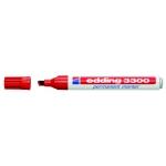 Edding 3300 - Rotulador permanente, punta biselada, color rojo