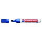 Rotulador Edding marcador permanente 1 color azul punta biselada 5 mm