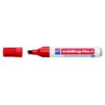 Rotulador Edding marcador permanente 1 color rojo punta biselada 5 mm