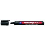 Edding 300 - Rotulador permanente, punta redonda de 1,5-3 mm, color negro