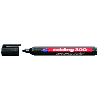 Rotulador Edding marcador permanente 300 color negro punta redonda 1,5-3 mm