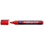 Rotulador Edding marcador permanente 300 color rojo punta redonda 1,5-3 mm
