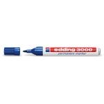 Rotulador Edding marcador permanente 3000 color azul punta redonda 1,5-3 mm
