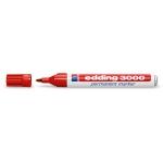 Rotulador Edding marcador permanente 3000 color rojo punta redonda 1,5-3 mm