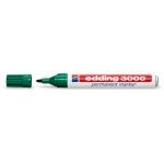 Rotulador Edding marcador permanente 3000 color verde punta redonda 1,5-3 mm