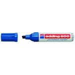 Rotulador Edding marcador permanente 500 color azul punta biselada 7 mm