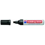 Edding 500 - Rotulador permanente, punta biselada, color negro