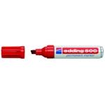 Rotulador Edding marcador permanente 500 color rojo punta biselada 7 mm