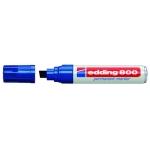 Rotulador Edding marcador permanente 800 color azul punta biselada 12 mm