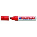 Rotulador Edding marcador permanente 800 color rojo punta biselada 12 mm
