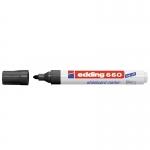 Rotulador Edding para pizarra blanca 660 color negro punta redonda 3 mm recargable