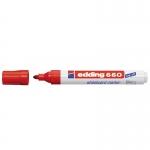 Edding 660 - Rotulador para pizarra blanca, punta redonda de 1,5-3 mm, color rojo