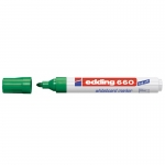 Edding 660 - Rotulador para pizarra blanca, punta redonda de 1,5-3 mm, color verde