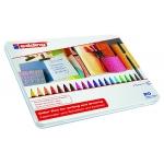 Rotulador Edding punta fibra 1200 caja de 20 colores surtidos punta redonda 0,5 mm