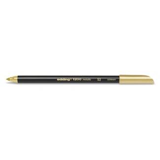 Edding 1200 - Rotulador punta de fibra, punta redonda de 1 mm, color oro Nº 53