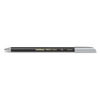 Rotulador Edding punta fibra 1200 color plata Nº 54 punta redonda 1-3 mm
