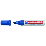 Edding 550 - Rotulador permanente, punta redonda de 3 mm, color azul