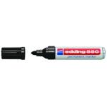 Rotulador Edding punta fibra permanente 550 color negro Nº 1 punta redonda