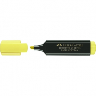 Rotulador Faber-Castell fluorescente 48-07 color amarillo