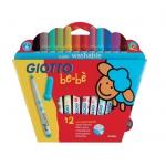Rotulador Giotto bebe caja de 12 colores