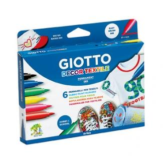 Rotulador Giotto decor textile para camisetas 6 colores
