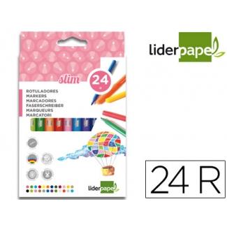 Liderpapel RT07 - Rotuladores de colores, caja de 24 colores