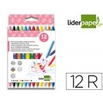 Liderpapel RT10 - Rotuladores de colores, bolsa de 12 colores