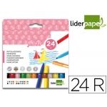 Rotulador Liderpapel jumbo caja 24 colores