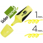Liderpapel RT01 - Rotulador fluorescente, punta biselada, tamaño mini, color amarillo