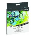 Rotulador Lyra aqua brush duo caja de 12 colores